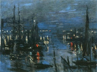 The Port Of Le Havre Night Effect