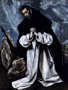 St Dominic in Prayer 1586-90
