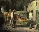 Peasants Bringing Home A Calf Born In The Fields 1864