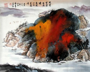 Red Rock Hill - Chinese Painting