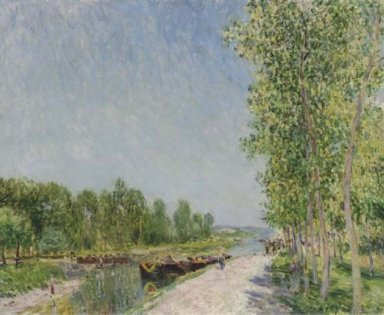 on the banks of the loing canal 1883