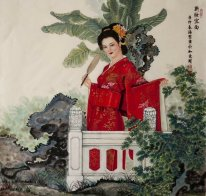 Belle peinture dame chinoise
