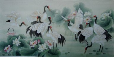 Crane&Louts - Chinese Painting