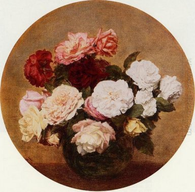 A Large Bouquet Of Roses 1886