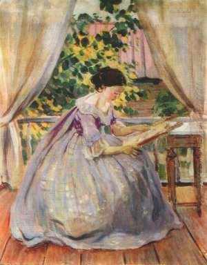 Lady Embroidering 1901