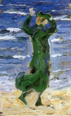 Woman In The Wind By The Sea 1907