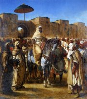 Muley Abd Ar Rhaman The Sultan Of Morocco Leaving His Palace Of