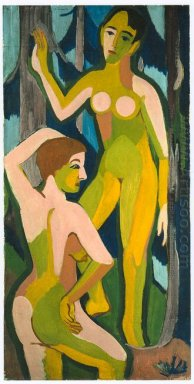Two Nudes In The Wood Ii