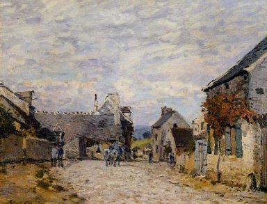 village street louveciennes 1874