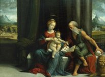 Madonna and Child and St Jerome