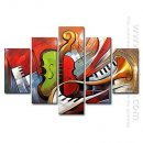 Hand-painted Oil Painting Still Life Oversized Wide - Set of 5
