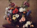 Bouquet Of Diverse Flowers 1881