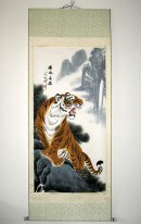 Tiger - Mounted - Chinese Painting