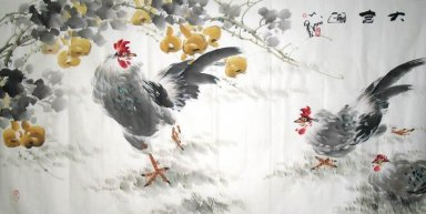 Chicken&Gourd - Chinese Painting