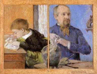 aube the sculptor and his son 1882