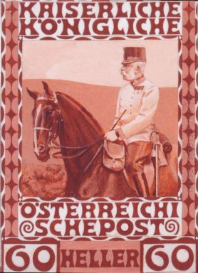 Design Of The Anniversary Stamp With Austrian Franz Joseph I On