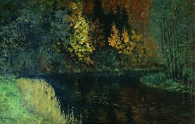 River In The Forest Autumn At River Istra 1886