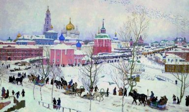 The Troitse Sergiyev Monastery In Winter 1910
