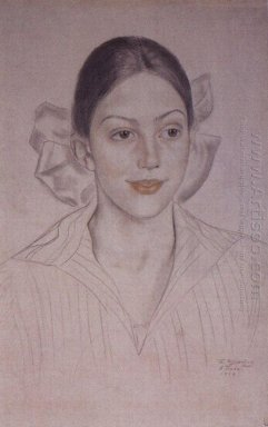 Portrait Of N A Kuznetsova 1919
