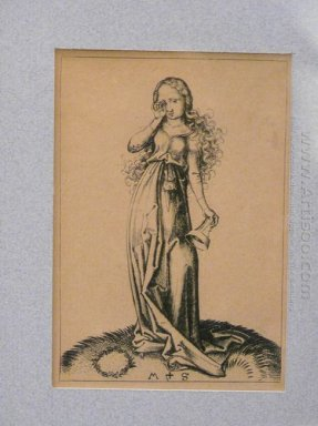 Engraving On Copper Of A Foolish Virgin