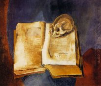 A Skull on the Open Book