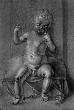 seated nude child 1506