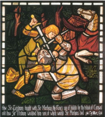 The Fight With Sir Marhalt From The Story Of Tristan And Isolde
