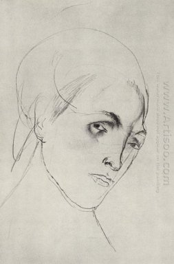 Sketch Of A Woman S Head To The Picture Mother 1911