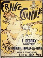 Poster Advertising Francia Champagne 1891