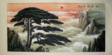 Huangshan Welcome Song - Chinese Painting