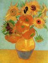 Still Life Vase With Twelve Sunflowers 1