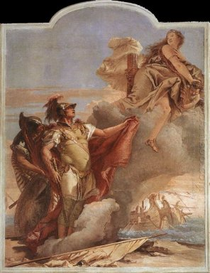 Venus S Farewell To Aeneas From The Room Of The Aeneid In The Pa