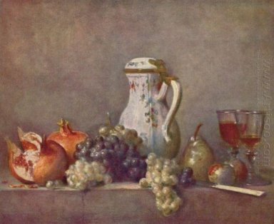 Still life with porcelain teapot
