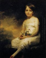 Little Girl Holding Flowers, Portrait of Nancy Graham