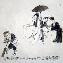 Opera Figures - Chinese Painting