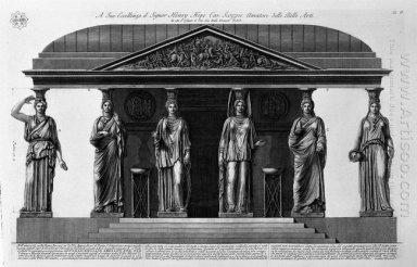 Reconstruction Of The Edifice Supported By Caryatids Found In 17