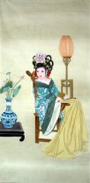 Belle peinture Lady-chinois