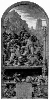design for the fugger chapel in augsburg samson fighting the phi