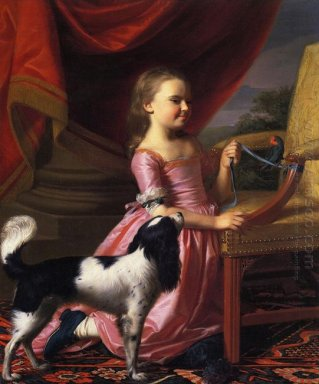 Young Lady With A Bird And Dog 1767