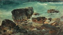 Coastal scene with larger rocks