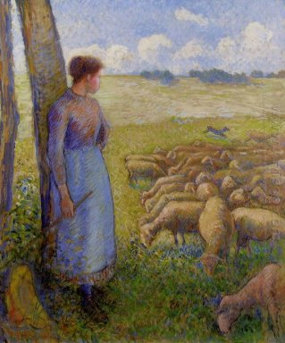 shepherdess and sheep 1887