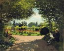Adolphe Monet Lettura In The Garden