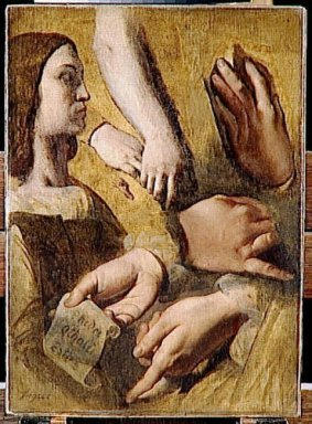 Study For The Apotheosis Of Homer S Profile Raphael Hands Of Ape