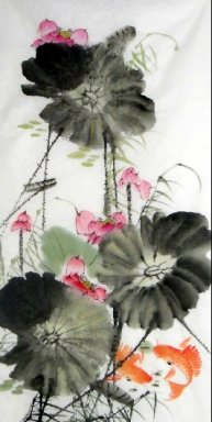 Lotus-Fish - Chinese Painting