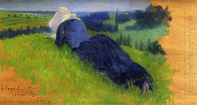 Peasant Woman Stretched Out On The Grass