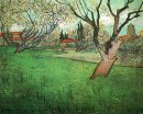View Of Arles With Trees In Blossom 1888