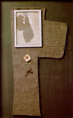 Halved Felt Cross With Dust Image Magda 1965