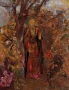 Buddha Walking Among The Flowers 1905