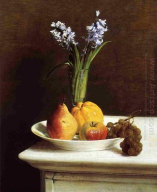 Still Life Hyacinths And Fruit 1865