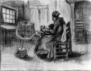 Peasant Woman Reeling Yarn 1885